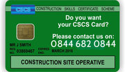 CSCS Test,  CSCS Card,  Health and Safety Test - Call 0844 683 0844